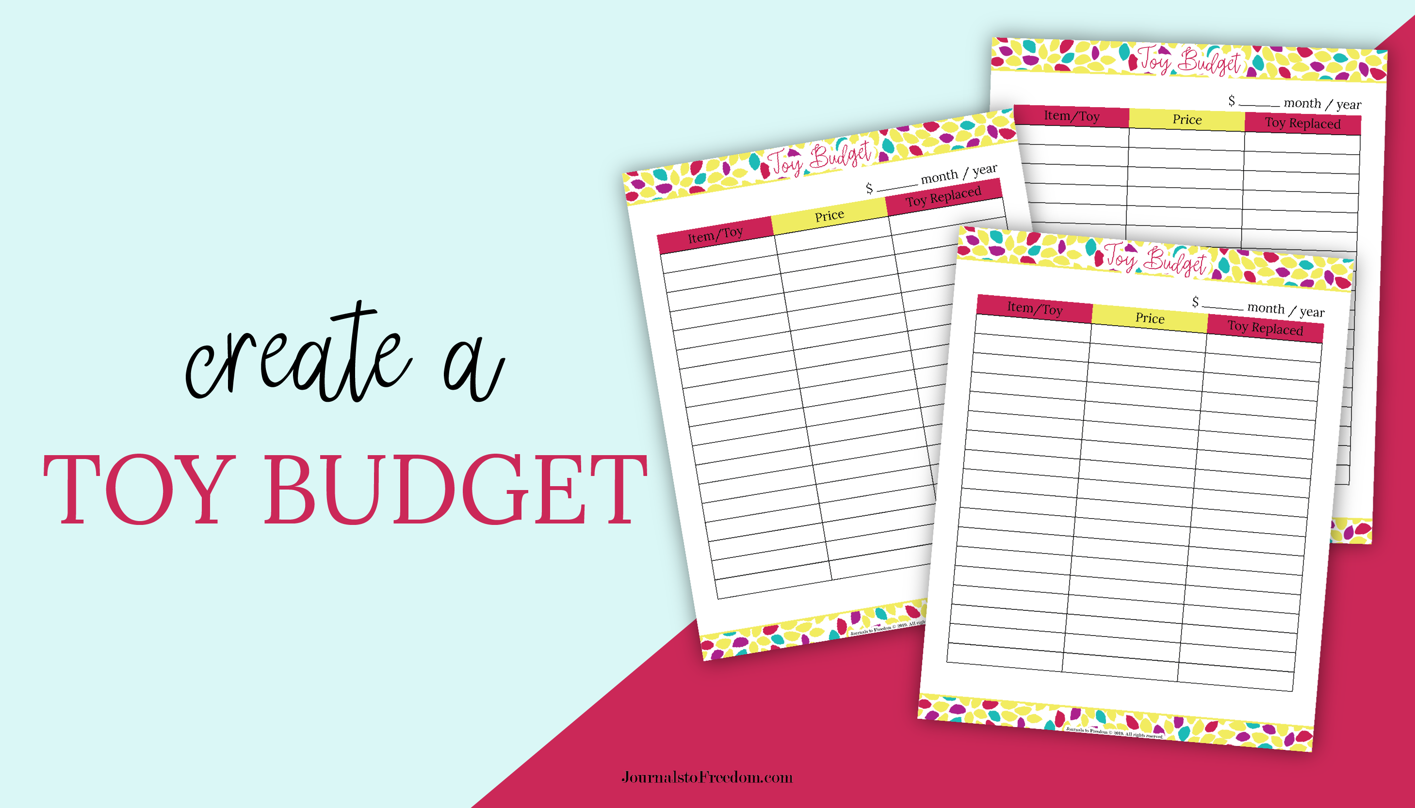 Create and stick to a toy budget