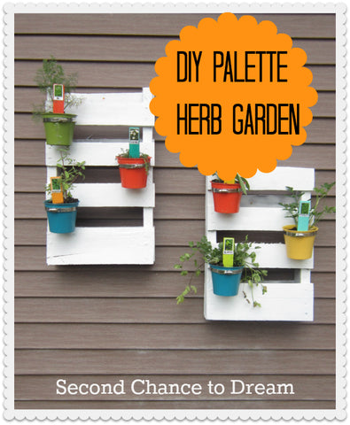 DIY Palette Herb Garden from Second Chance to Dream