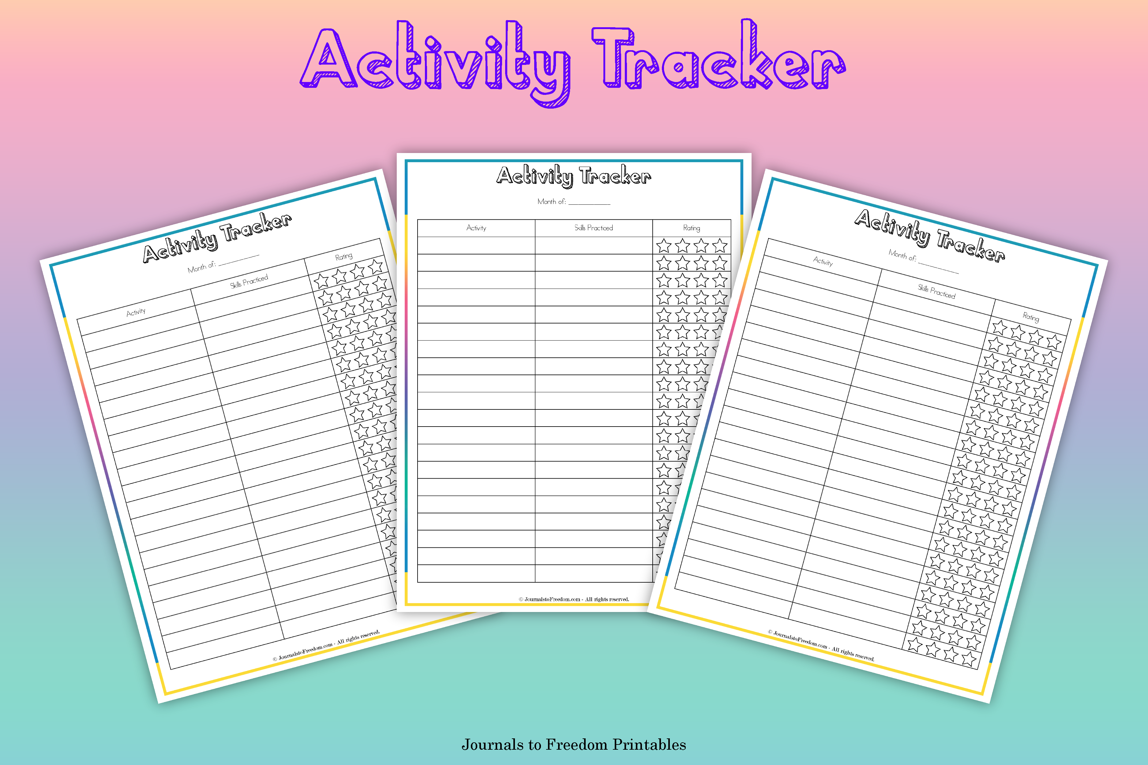 Printable Activity Tracker