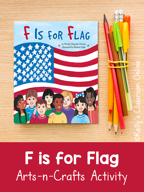 F is for Flag by Wendy Cheyette Lewison Arts and Crafts Activity
