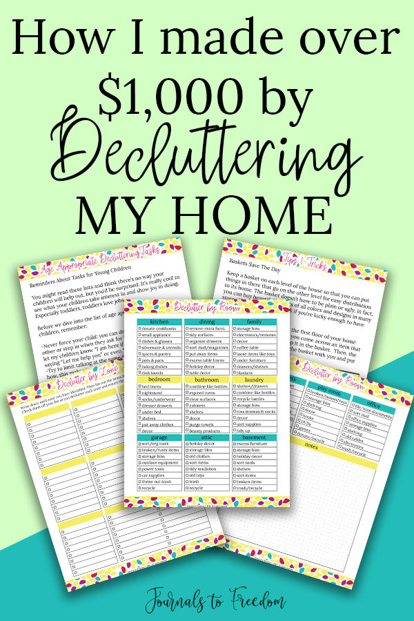 How I Made Over $1,000 by Decluttering My Home {Free Printable}