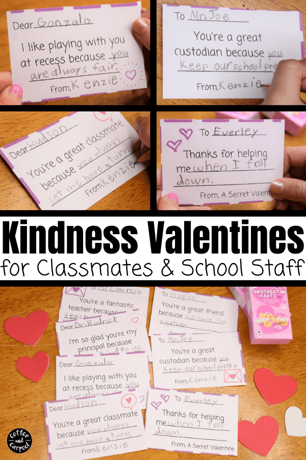 printable Kindness Valentines