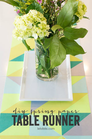 DIY Spring Paper Table Runner from A Night Owl Blog