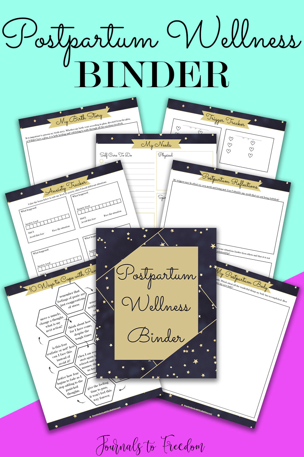 Postpartum Wellness Binder - Journals to Freedom Printables