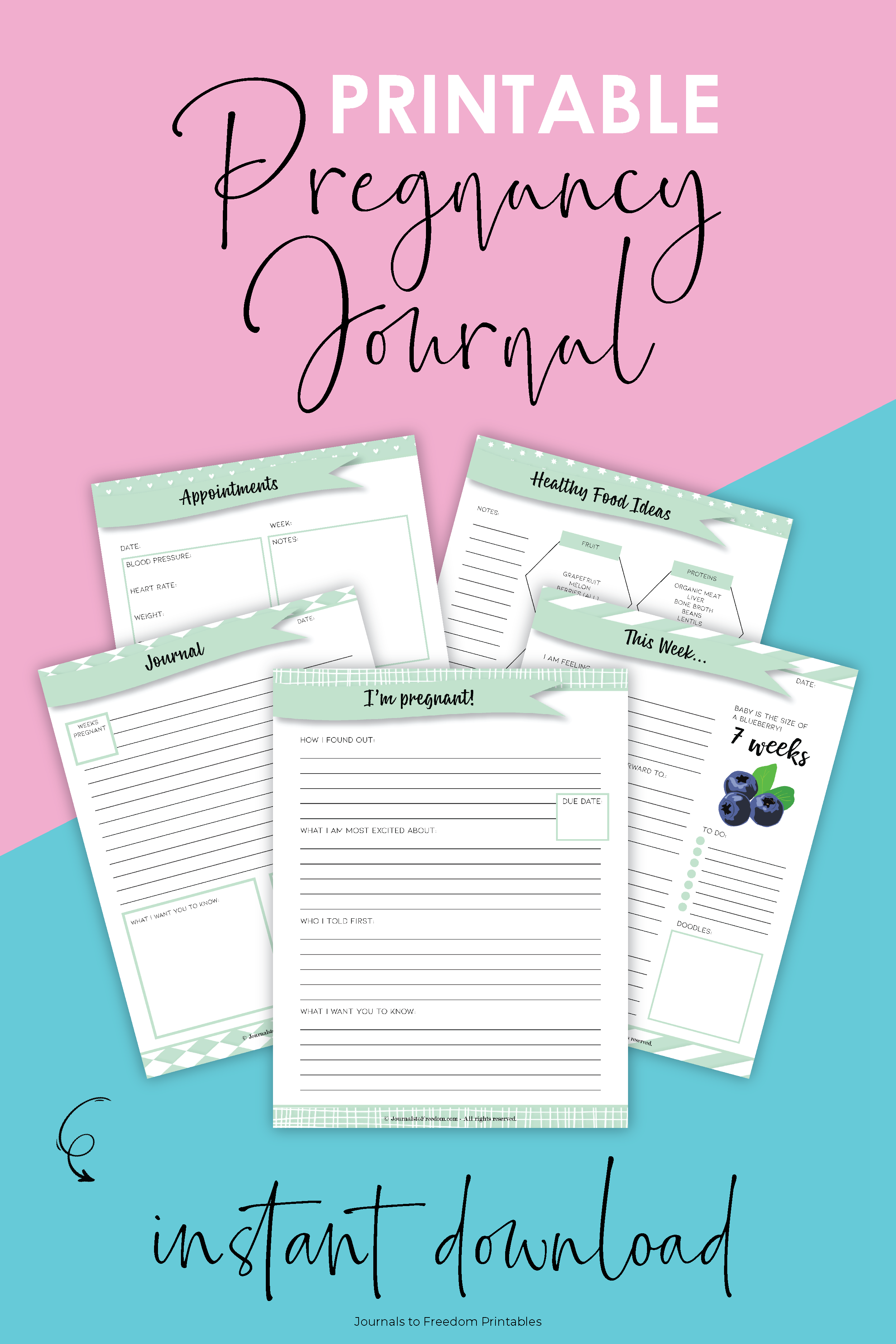 printable pregnancy journal pdf