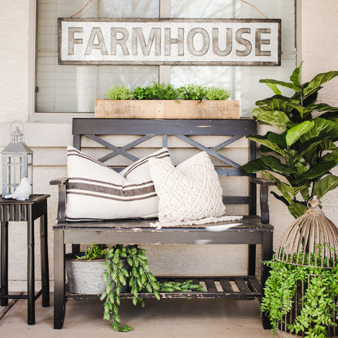 Spring Farmhouse Porch by A Night Owl Blog