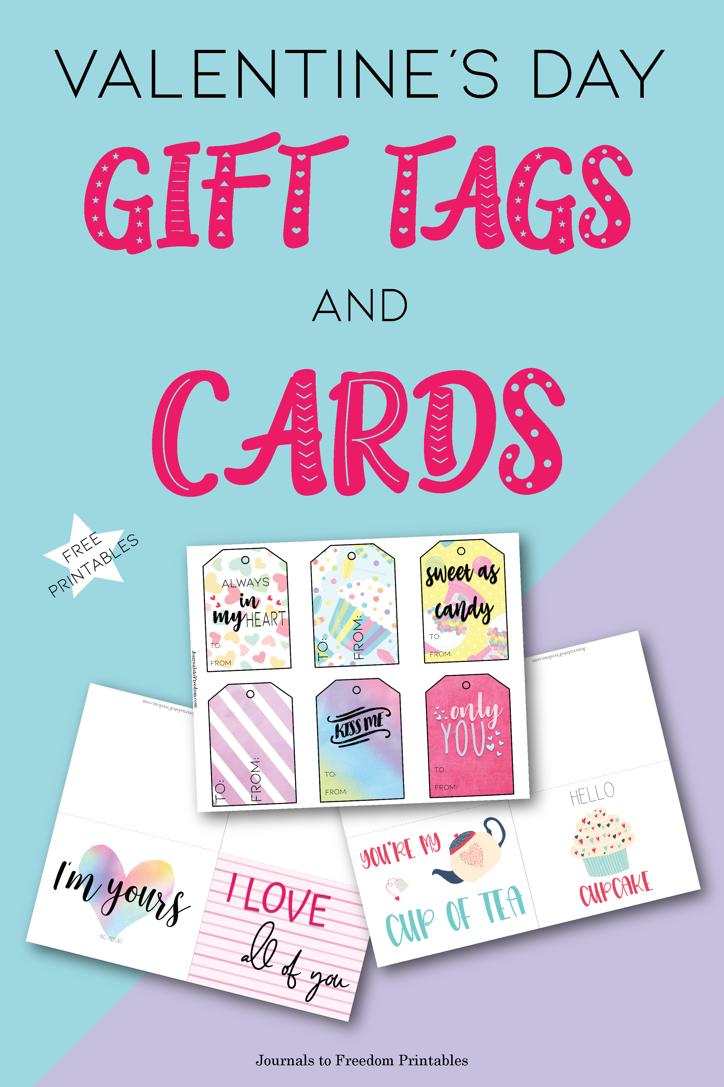 Free Printable Valentine's Day Gift Tags and Cards