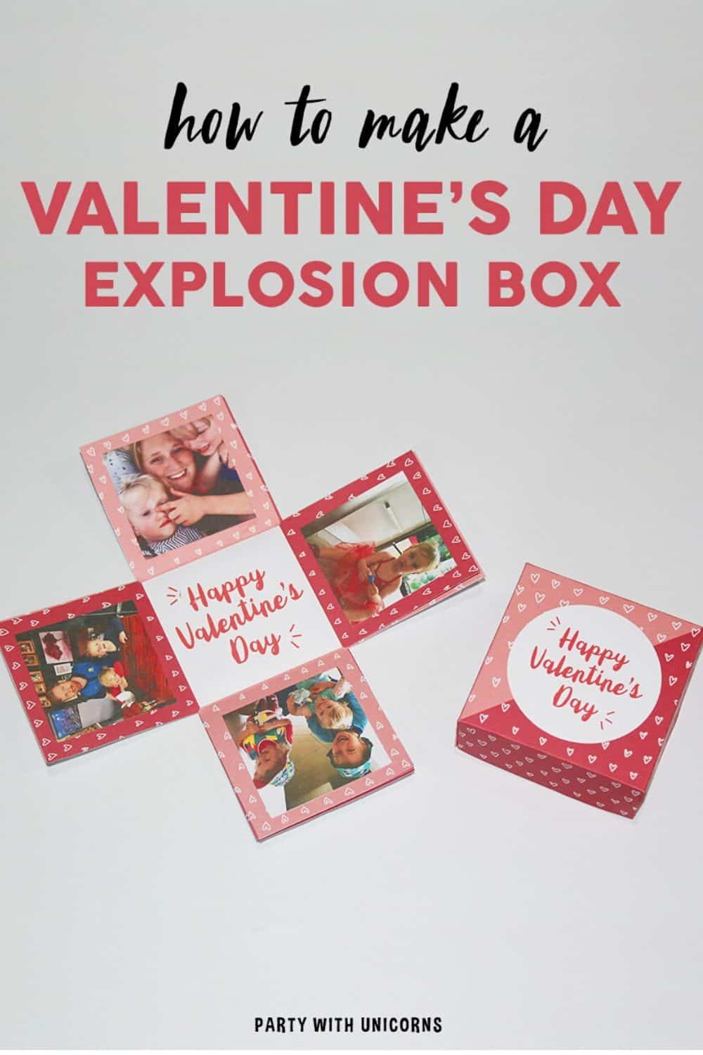 Easy Valentine Crafts for Kids – Valentines Day Explosion Box
