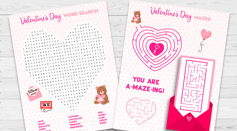 Free Printable Valentine's Day Activity Sheets