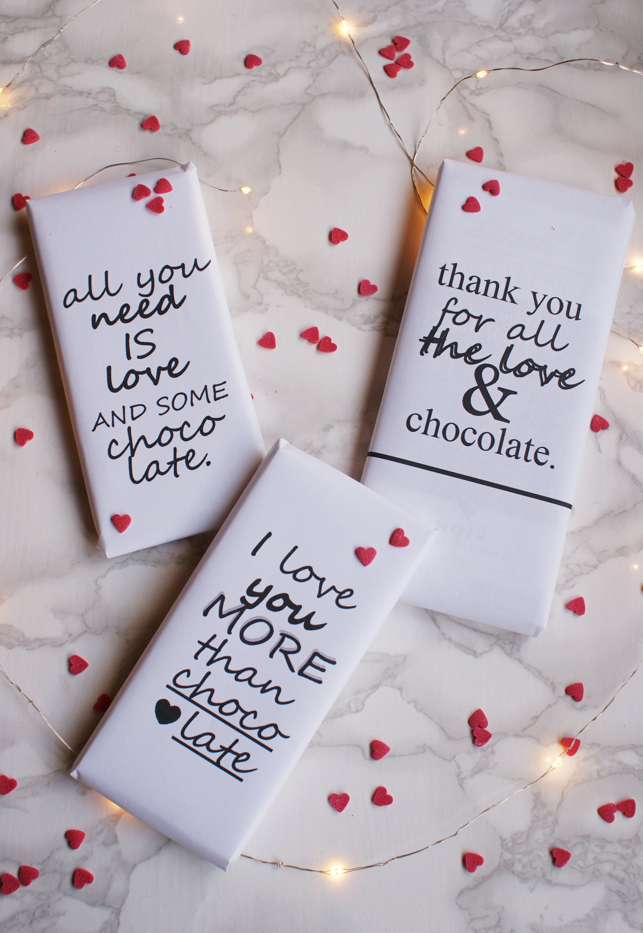 DIY VALENTINE'S DAY CHOCOLATE WRAPPERS