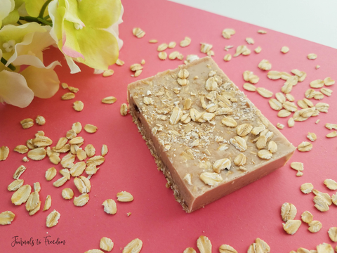 Easy DIY Cinnamon Oatmeal Soap with Essential Oils