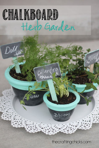 Chalkboard Herb Garden from the Crafting Chicks