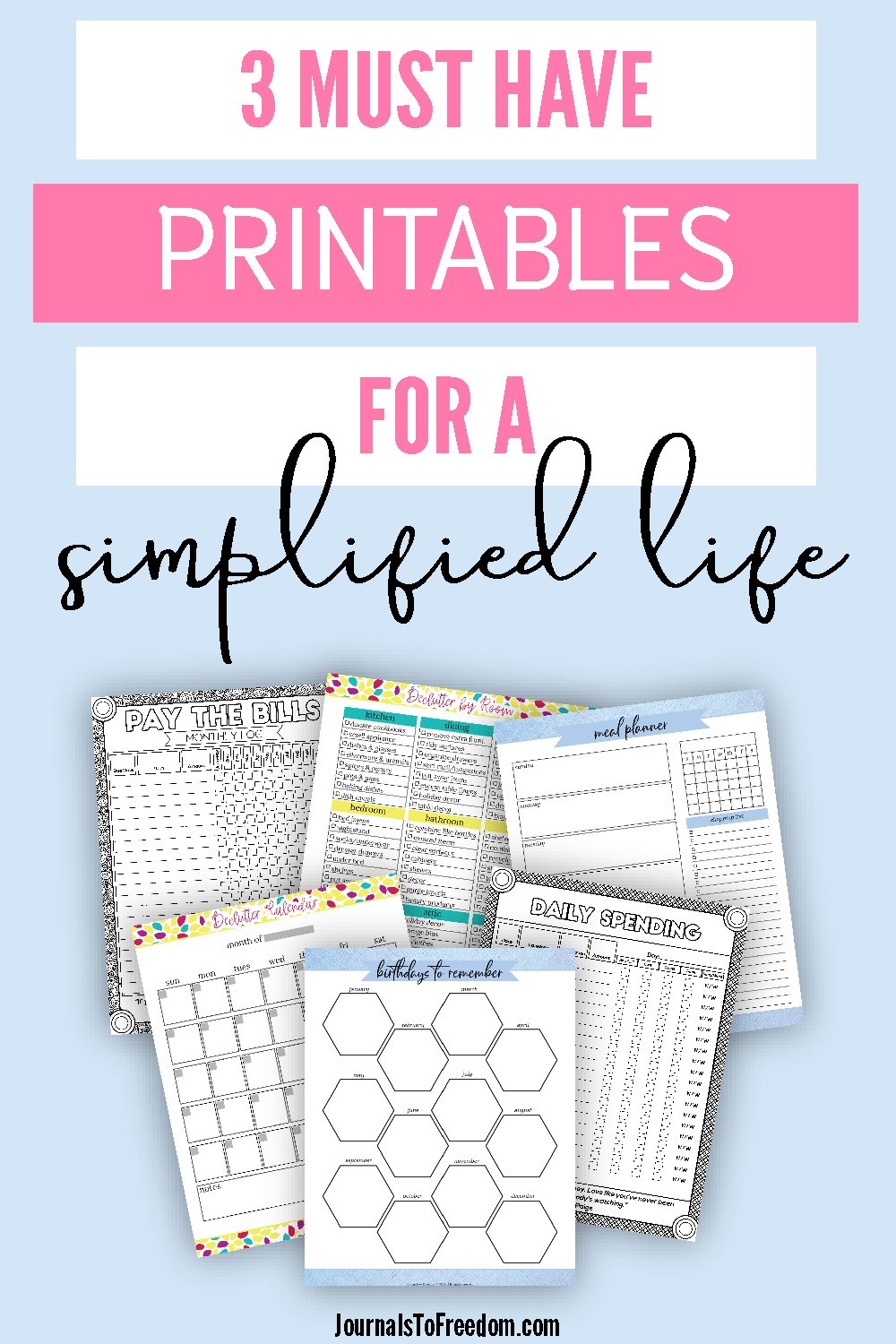 must have printables for a simplified life