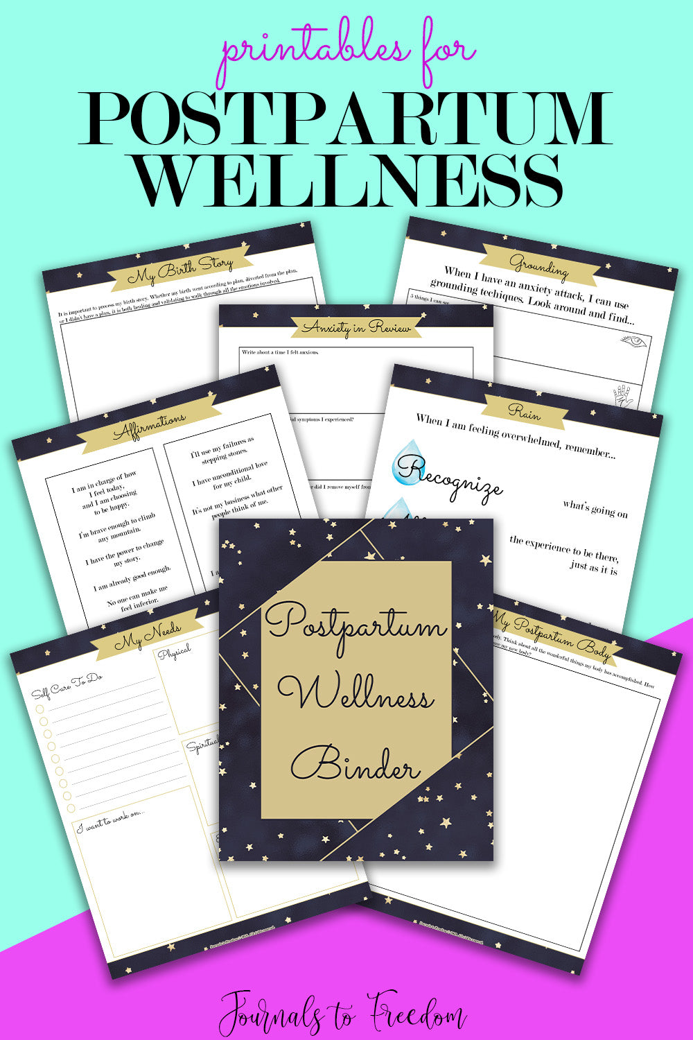 Printables for Postpartum Wellness - Journals to Freedom