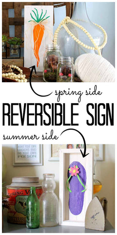 Reversible Sign for Spring and Summer by the Country Chic Cottage