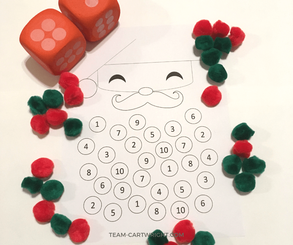 Christmas Counting Worksheet from Team Cartwright