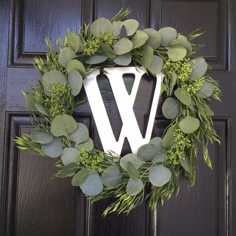 Mixed Greenery Wreath from Coastal Kelder Blog
