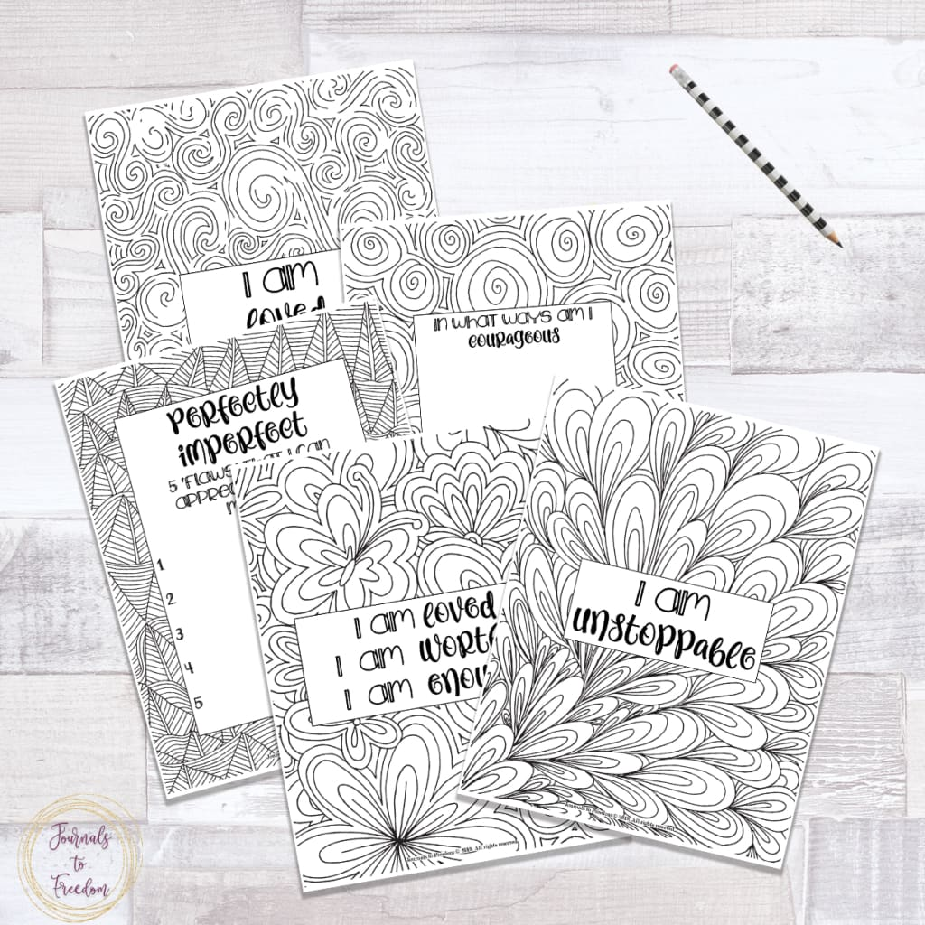 Splash of Gratitude Coloring Journal {74 pages}