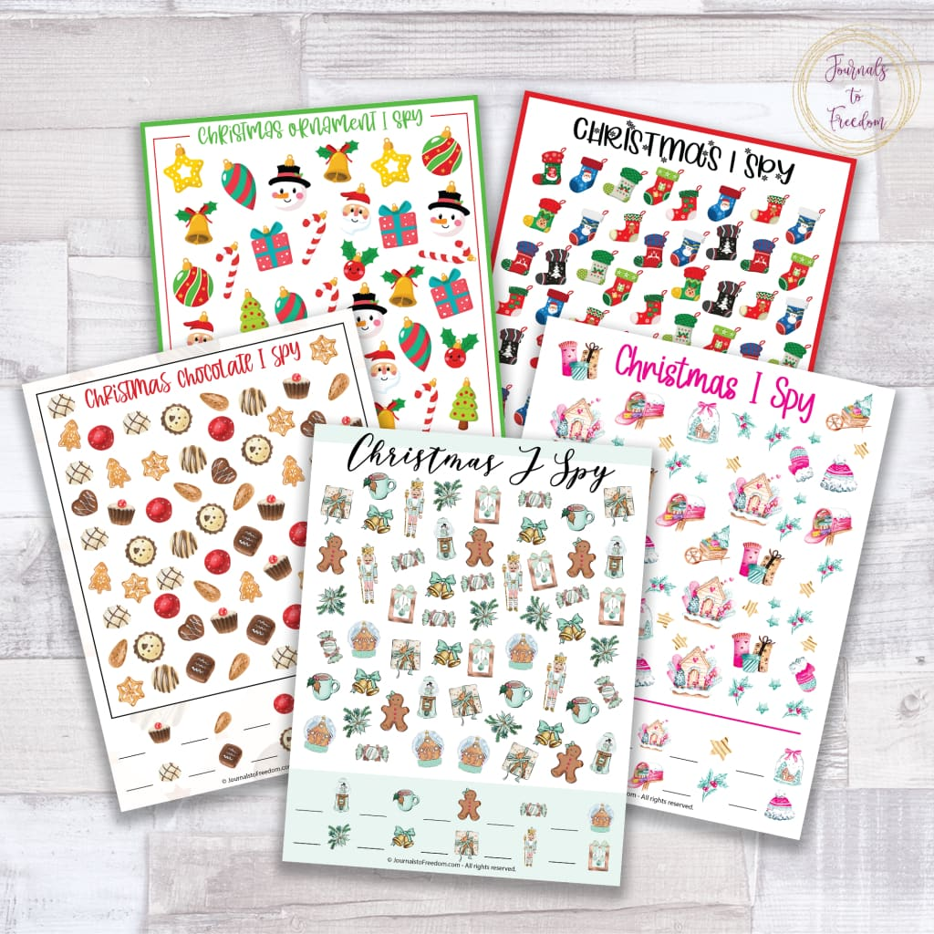 Christmas I Spy Games {5 Pages}