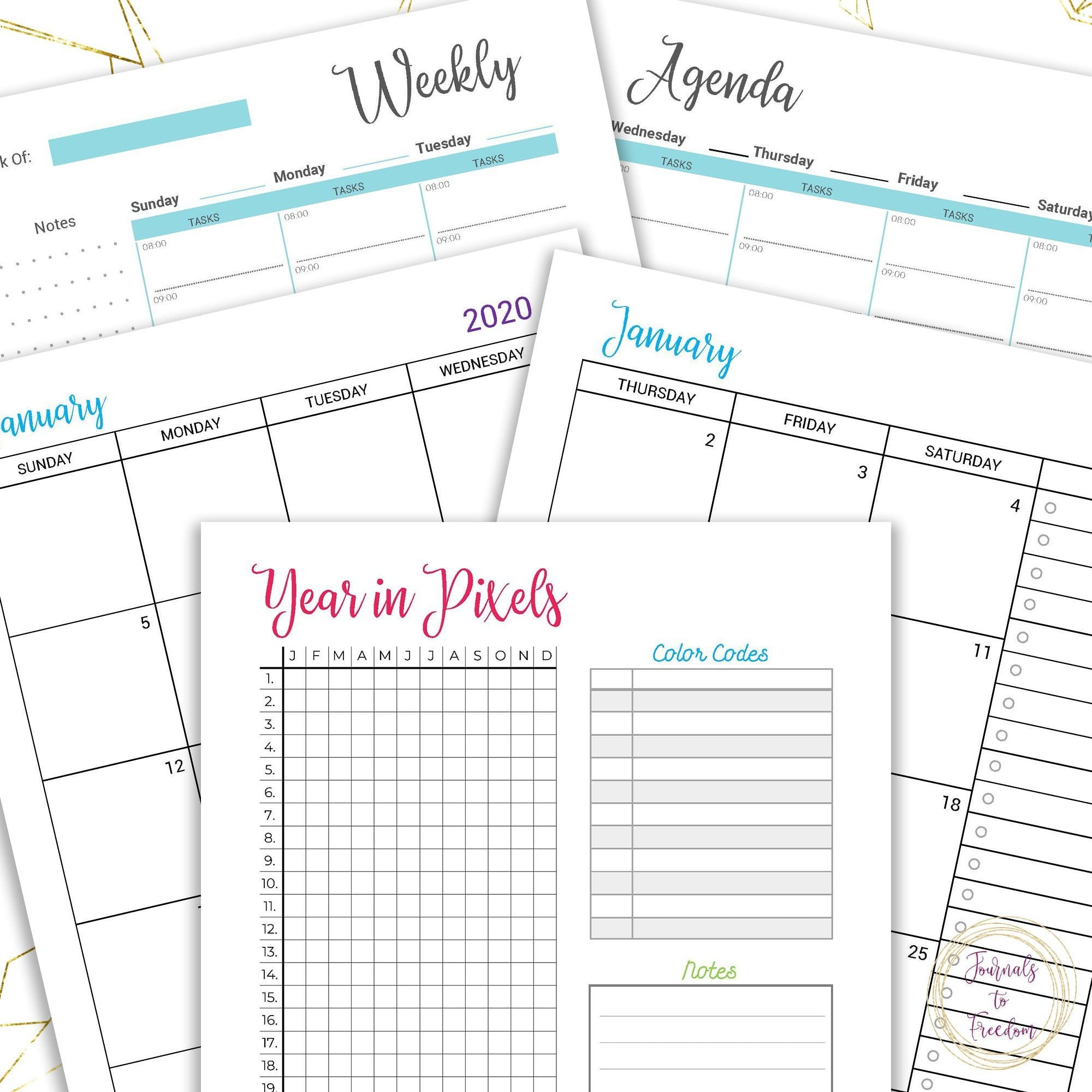 Complete 2020 Daily Printable Planner for Moms {169 Pages}
