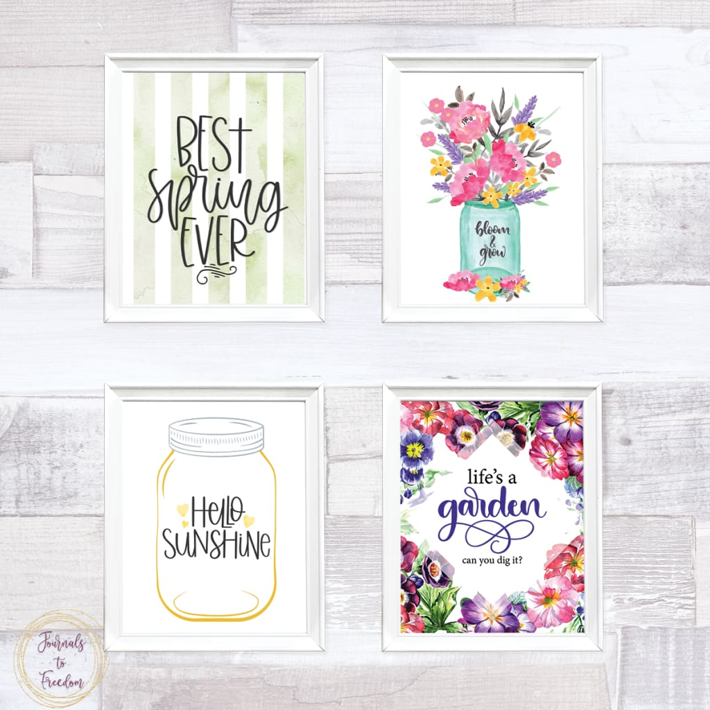 Spring Decor Wall Art {23 Pages}