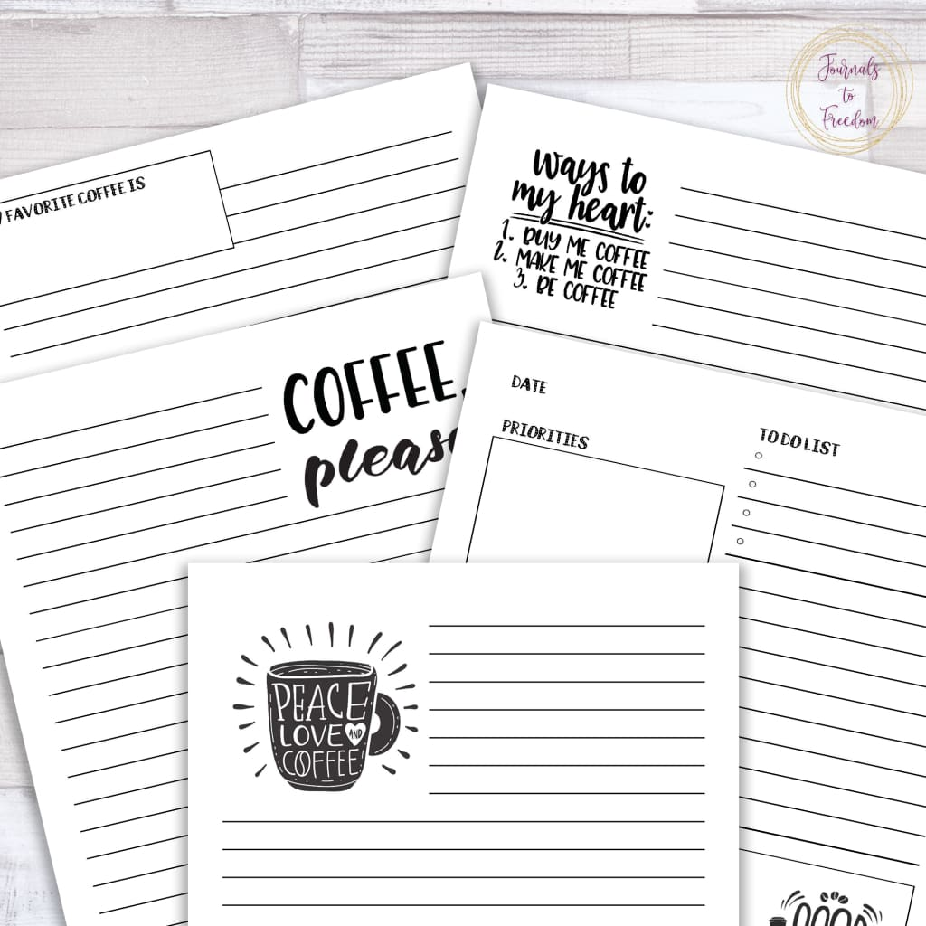 Coffee Lovers Journal {62 Pages}