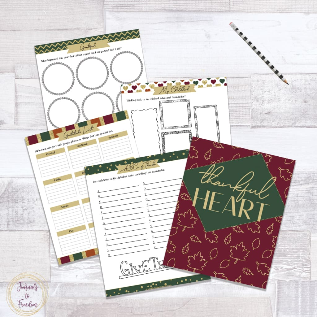 Thankful Heart Binder {40 pages}