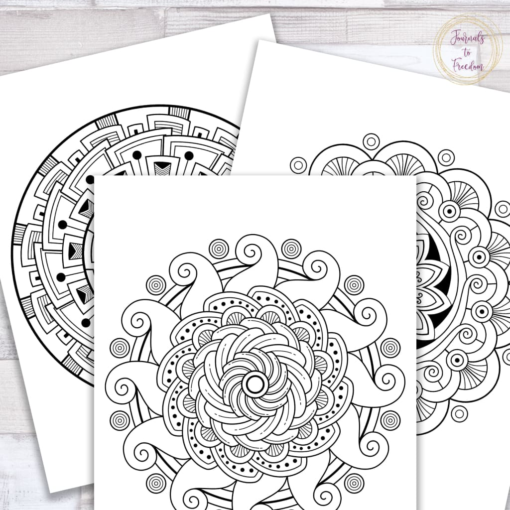 Relaxing Mandalas Coloring Sheets {100 pages}