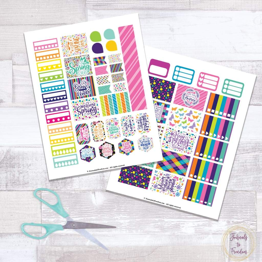 Spring Stickers {2 Pages}