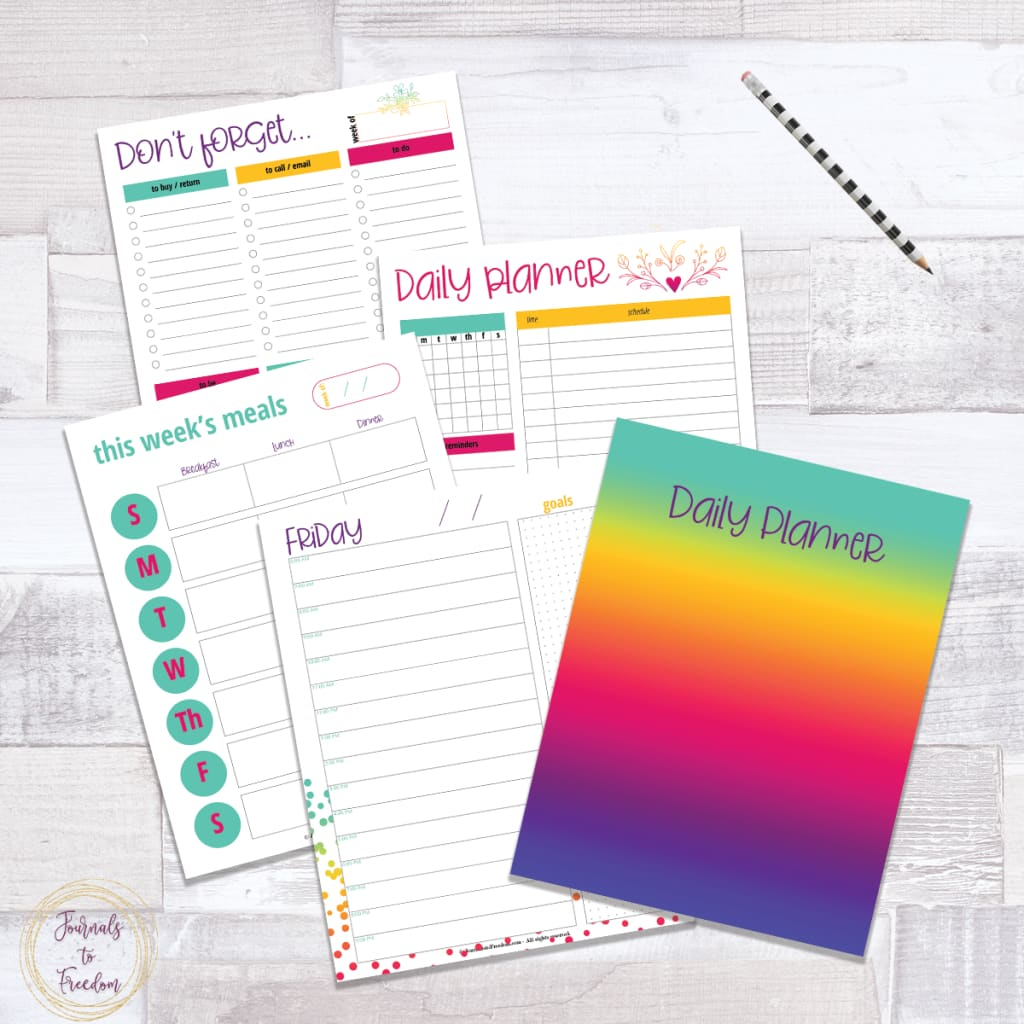 Undated Daily Planner {77 pages}