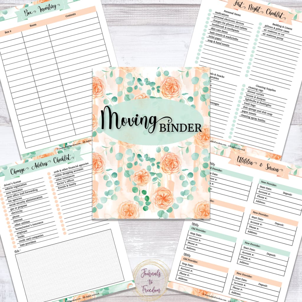 Moving Binder {33 Pages}