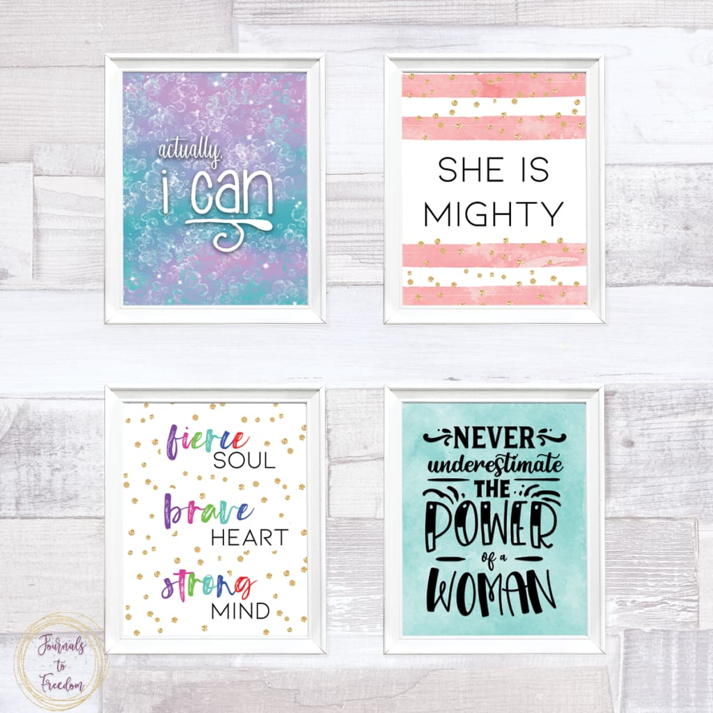 Strong Woman Wall Art {21 Pages}