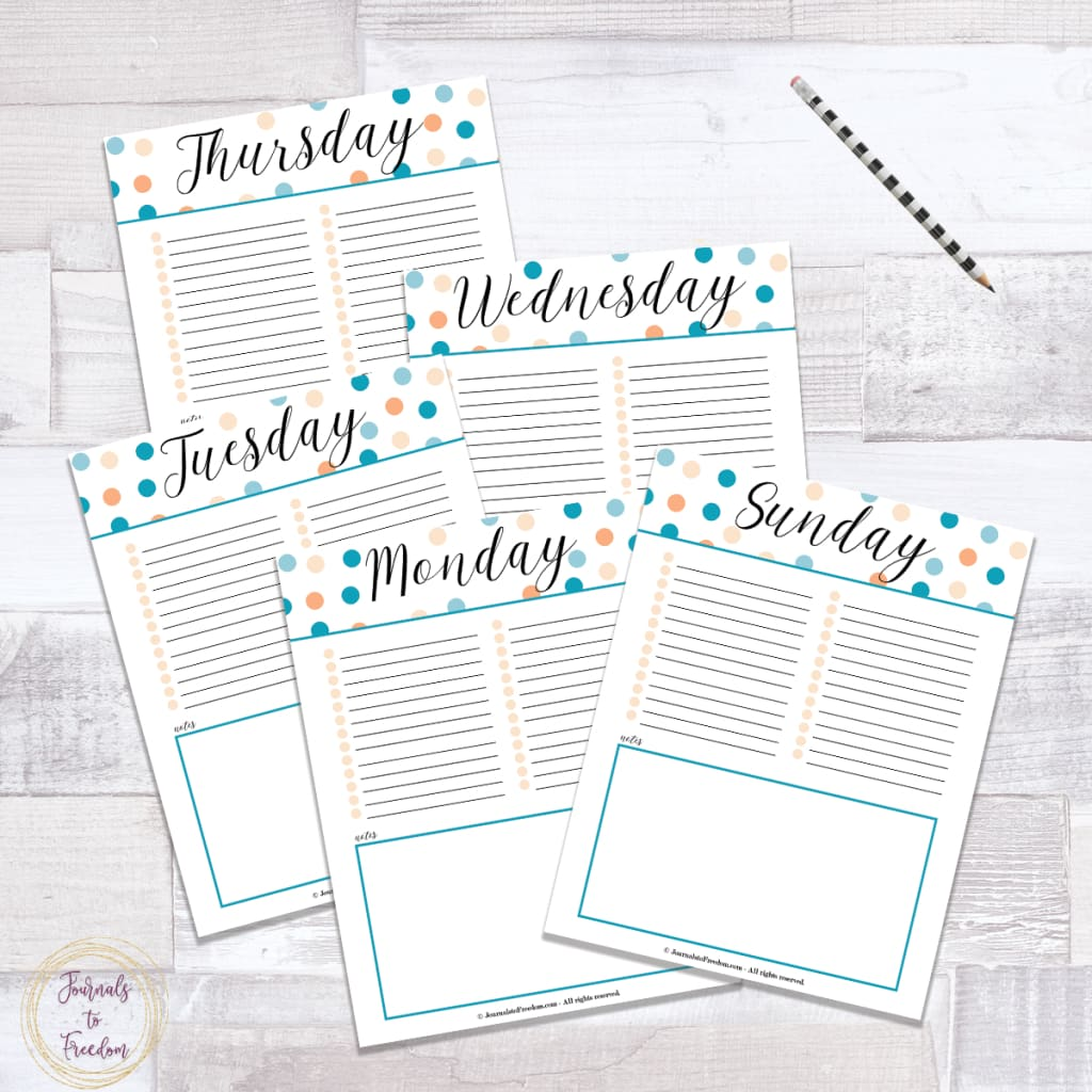 Weekly Planner {7 Pages}