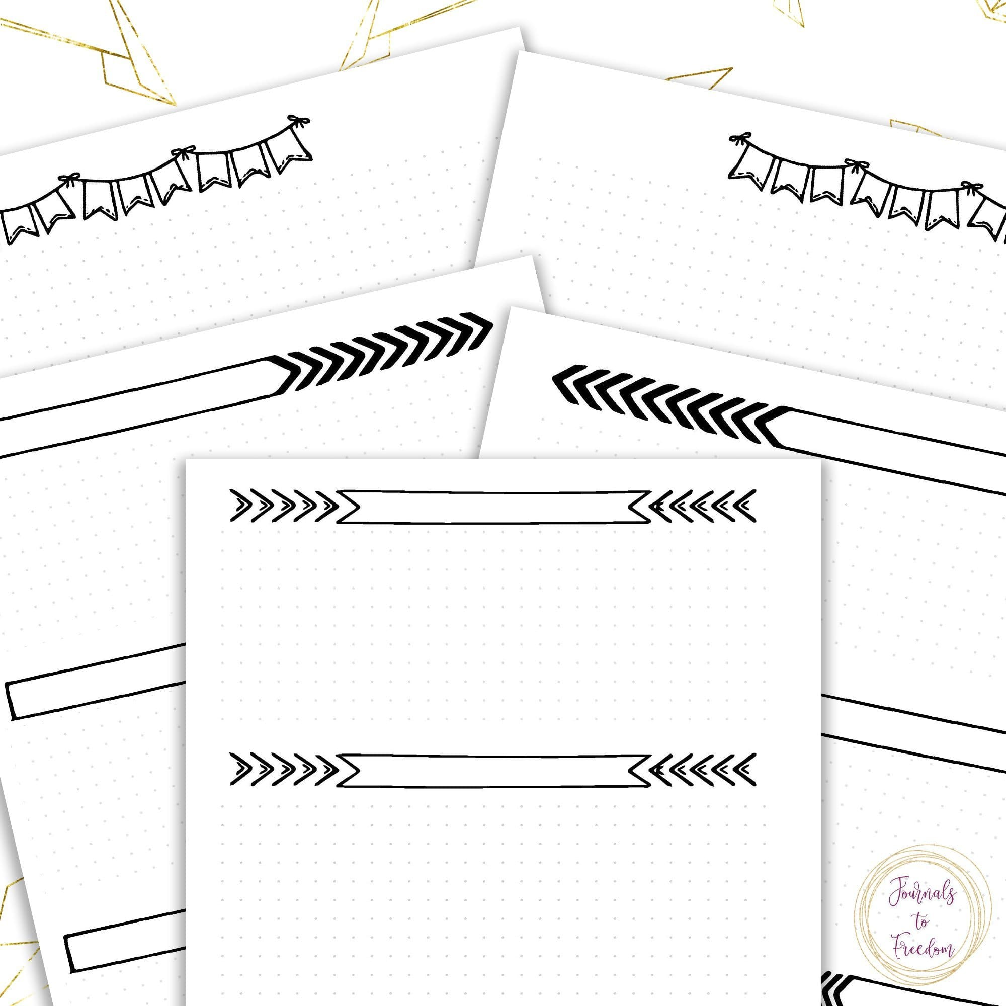 Weekly Dot Grid Planner {21 pages}