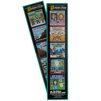 The Top 10 Ways to Build a Positive Attitude Bookmark 100 pack