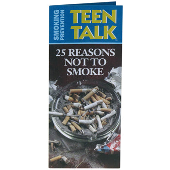 TeenTalk: (25 pack) 25 Reasons Not to Smoke Pamphlet