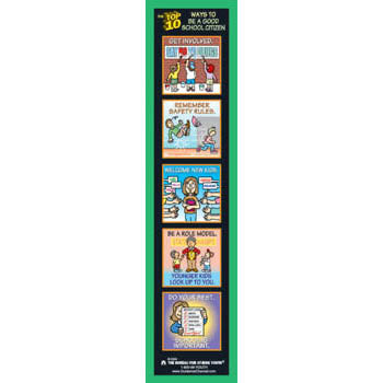 The Top 10 Ways to Be a Good School Citizen Bookmark 100 pack