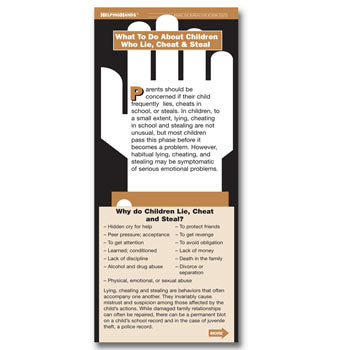 Helping Hands Card: (25 pack) What to Do About Children Who Lie, Cheat & Steal