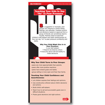 "Helping Hands Card: (25 pack) Teaching Your Kids to Say ""No"" to Peer Pressure"