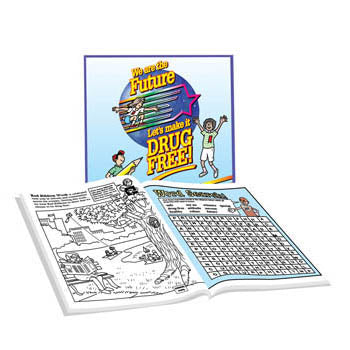 We Are the Future, Let's Make it Drug Free!   Activity Book 25 pack
