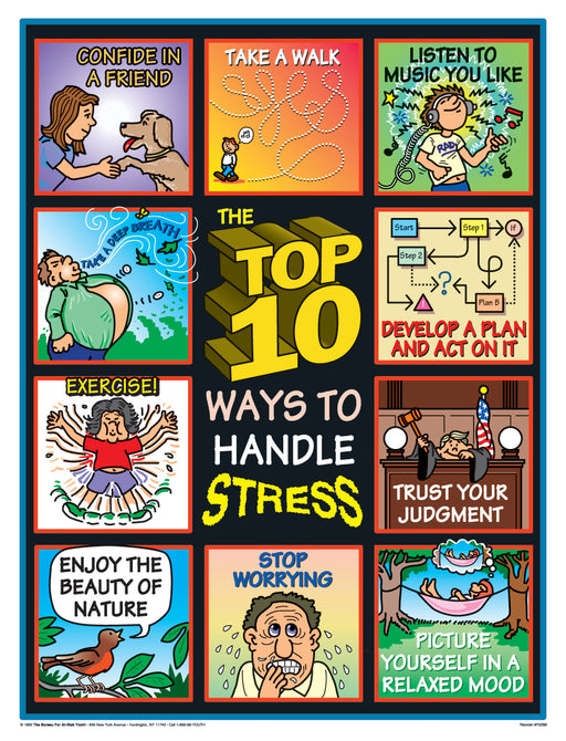 The Top 10 Ways to Handle Stress Poster