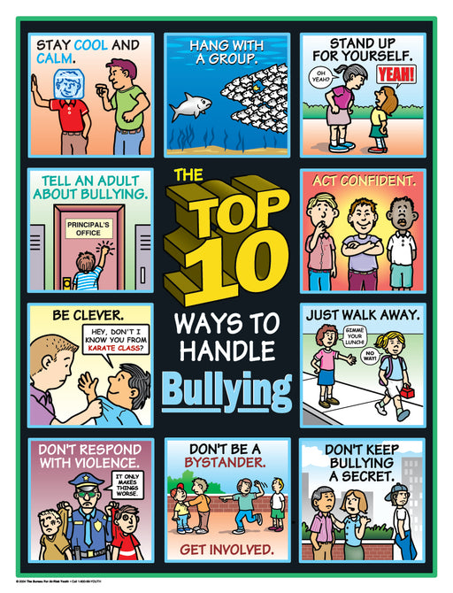 The Top 10 Ways to Handle Bullying Poster