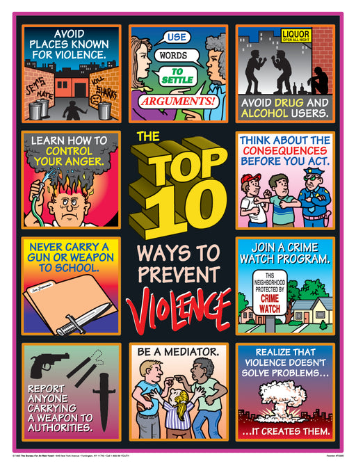 TOP 10 Ways to Prevent Violence Poster