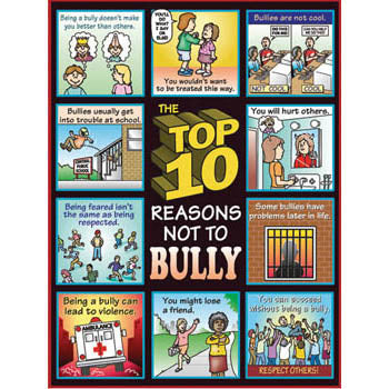 The Top 10 Reasons Not to Bully Poster