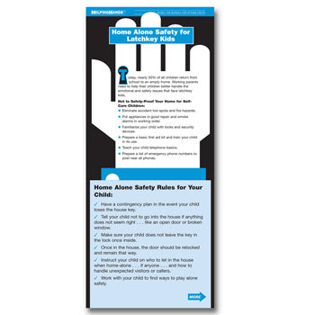 Helping Hands Card: (25 pack) Home Alone Safety for Latchkey Kids