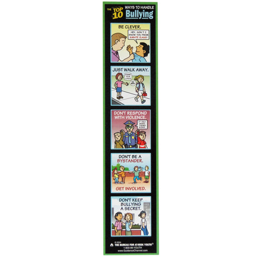 The Top 10 Ways to Handle Bullying Bookmark 100 pack