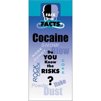 Face the Facts Drug Prevention Pamphlet   Cocaine 25 pack