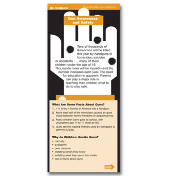 Helping Hands Card: (25 pack) Gun Awareness and Safety