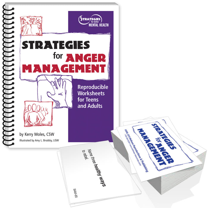 Strategies for Anger Management Workbook & Cards Set