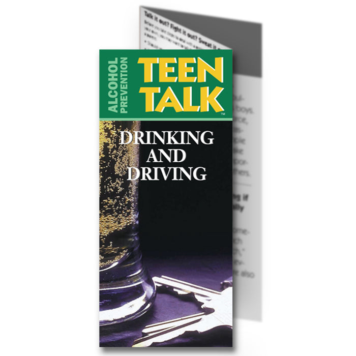 TeenTalk: (25 pack) Drinking and Driving Pamphlet